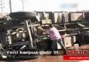 Yanan Kamyonu Karpuzla  söndürme